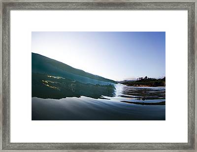 Oyster Curl  -  Part 1 Of 3 Framed Print by Sean Davey