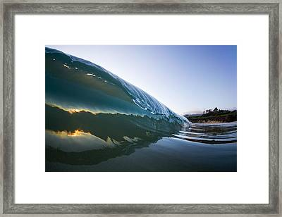Oyster Curl  -  Part 2 Of 3 Framed Print by Sean Davey