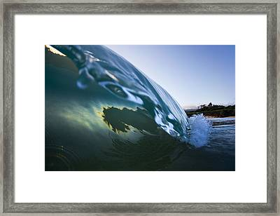 Oyster Curl  -  Part 3 Of 3 Framed Print by Sean Davey