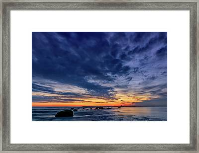 Oyster Pond Reef At Orient Point Framed Print by Rick Berk