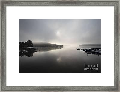 Ozark Fog Framed Print by Dennis Hedberg