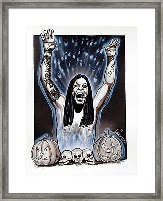Ozzie's Halloween Framed Print by Dave Olsen