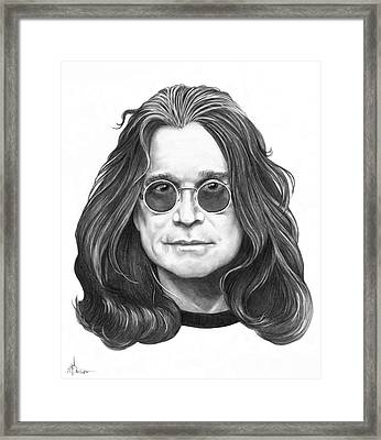 Ozzy Osbourne Framed Print by Murphy Elliott