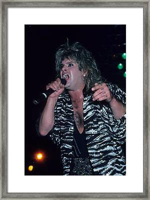 Ozzy Osbourne Framed Print by Rich Fuscia
