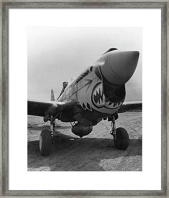 P-40 Warhawk - Flying Tiger Framed Print by War Is Hell Store