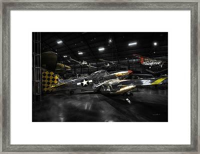 P 51 Mustang H D R_ W P A F Museum Framed Print by Michael Rankin