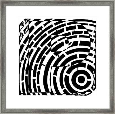 P Maze Framed Print by Yonatan Frimer Maze Artist