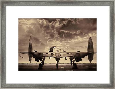 P38 Sunset Mission V2 Framed Print by Peter Chilelli