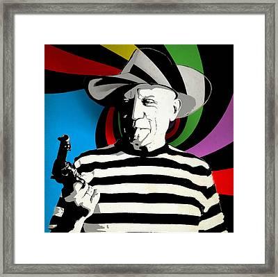Pablo Colores Framed Print by Surj LA