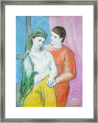 Pablo Picasso Framed Print by MotionAge Designs