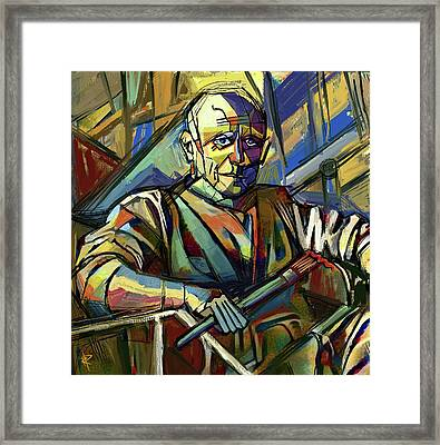 Pablo Picasso Framed Print by Russell Pierce