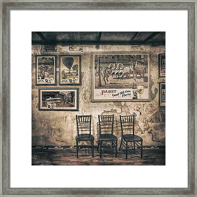 Pabst Good Old Time Flavor Framed Print by Scott Norris