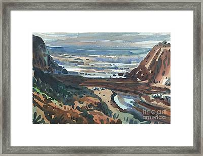 Pacific Beach Day Framed Print by Donald Maier