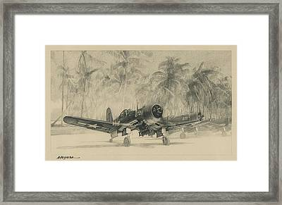 Pacific Corsairs Framed Print by Wade Meyers