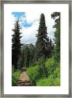 Pacific Crest Trail Towards American Ridge Framed Print by Jeff Swan