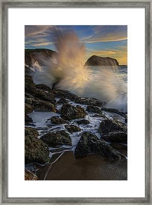 Pacific Fury Framed Print by Rick Berk