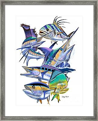 Pacific Gamefish  Framed Print by Carey Chen