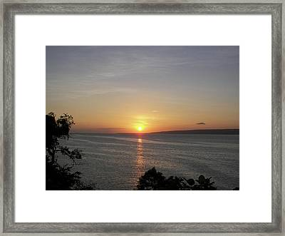 Pacific Island Sunset Framed Print by Kate Farrant