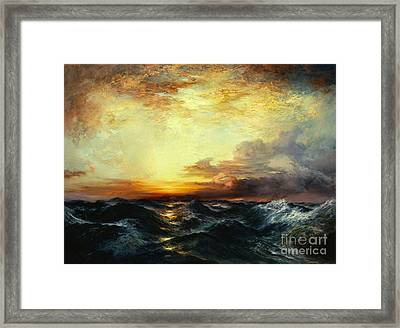 Pacific Sunset Framed Print by Thomas Moran