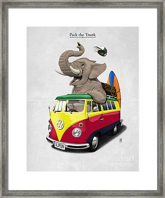 Pack The Trunk Framed Print by Rob Snow