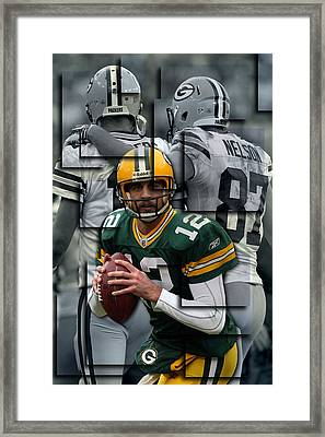 Packers Aaron Rodgers 2 Framed Print by Joe Hamilton