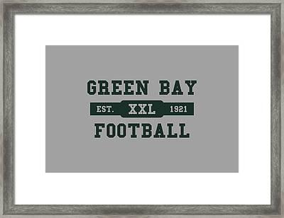 Packers Retro Shirt Framed Print by Joe Hamilton