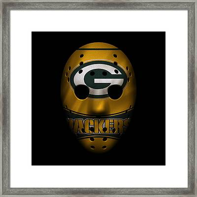 Packers War Mask 2 Framed Print by Joe Hamilton