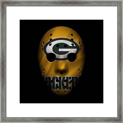 Packers War Mask 3 Framed Print by Joe Hamilton