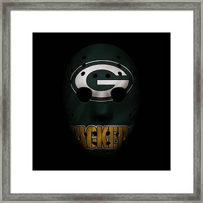 Packers War Mask Framed Print by Joe Hamilton