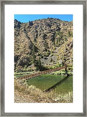 Packhorse Bridge  Framed Print by Robert Bales
