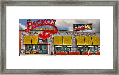 Packo's At The Park Framed Print by Jack Schultz
