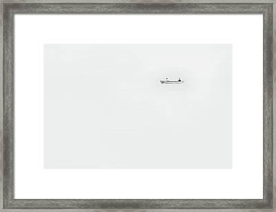Paddle On Lake Monona Framed Print by Scott Norris