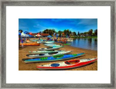 Paddlefest In Old Forge New York Framed Print by David Patterson