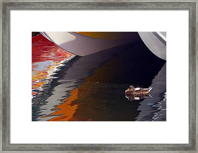 Paddling Among The Colours Framed Print by Paul Wash
