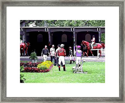 Paddock Painting Framed Print by  Newwwman