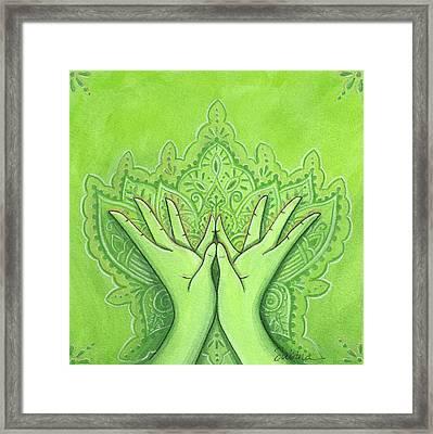 Padma Mudra Framed Print by Sabina Espinet