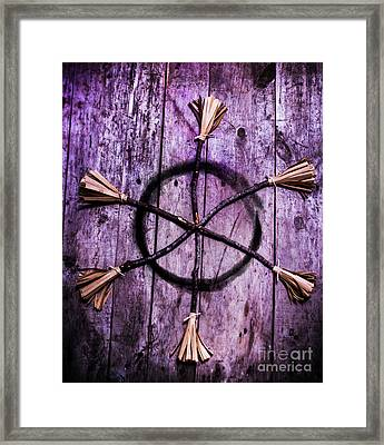 Pagan Or Witchcraft Symbol For A Gathering Framed Print by Jorgo Photography - Wall Art Gallery