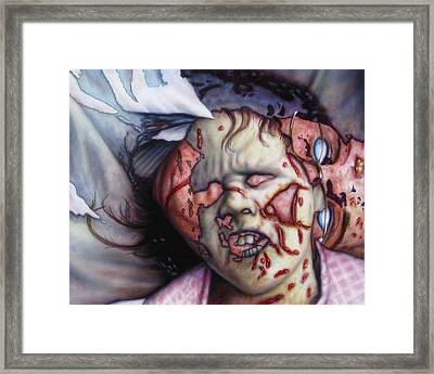 Pain Framed Print by James W Johnson