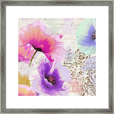 Paint And Poppies Framed Print by Mindy Sommers