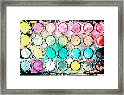 Paint Colors Framed Print by Tom Gowanlock