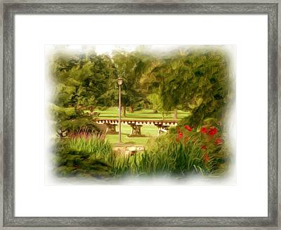 Paint In The Park Framed Print by Jim  Darnall