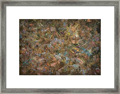 Paint Number 18 Framed Print by James W Johnson