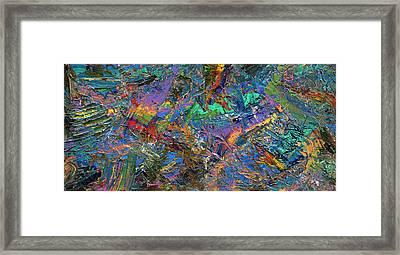 Paint Number 28 Framed Print by James W Johnson
