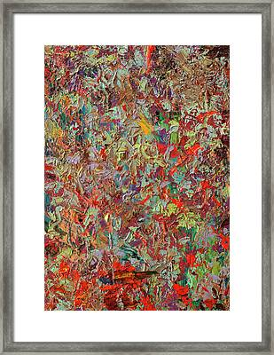 Paint Number 33 Framed Print by James W Johnson