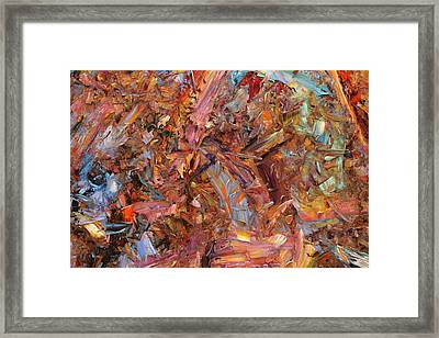 Paint Number 43b Framed Print by James W Johnson