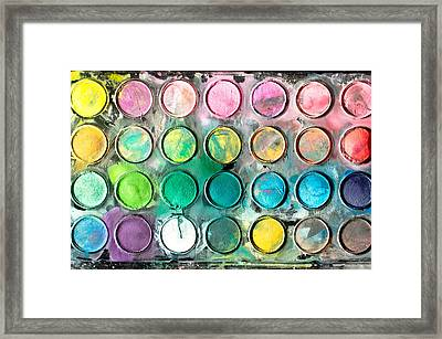Paint Tray Framed Print by Tom Gowanlock