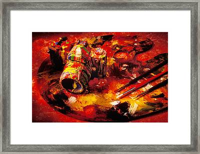 Painted Camera Framed Print by Garry Gay