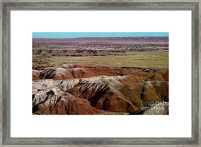 Painted Desert In Arizona Framed Print by Ruth  Housley