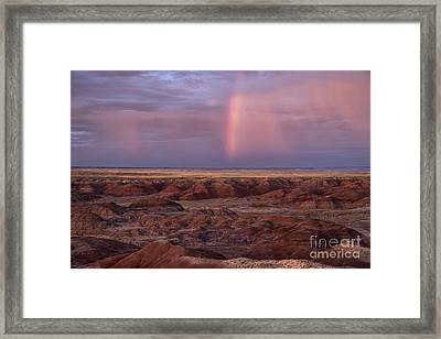 Painted Desert Rainbow Framed Print by Melany Sarafis