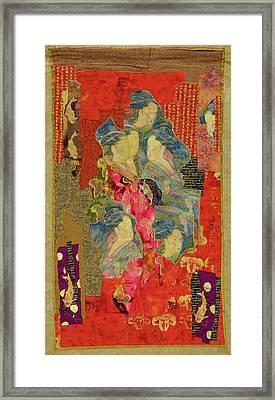 Painted Geisha Framed Print by Roberta Baker